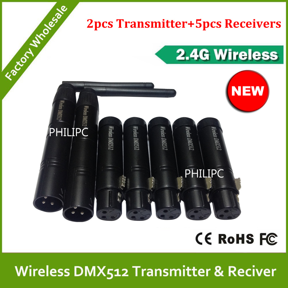 DHL Free Shipping 2.4G Wireless DMX controller transmitter and receiver, LED Lighting DMX 512 controller(China (Mainland))