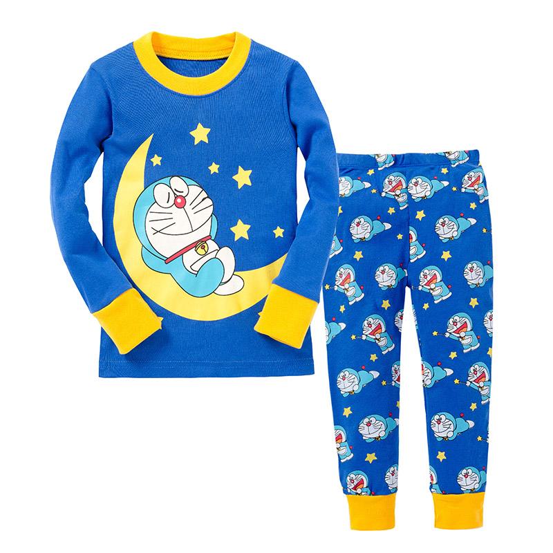 Children Doraemon Clothing Top+Pants 2pcs Pyjamas Kids Christmas Pajamas Full Sleeve Minions Pyjamas Boys Dinosaur Pijamas(China (Mainland))