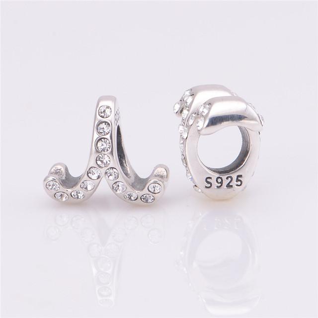 Лаки знак 925 чистое серебро Jewerly овен бусины с камнями камни подходит европейский подвески-талисманы браслеты для женщины своими руками
