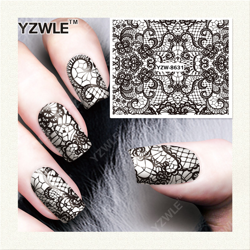 YZWLE 1 Sheet DIY Decals Nails Art Water Transfer Printing Stickers Accessories For Manicure Salon YZW-8631(China (Mainland))