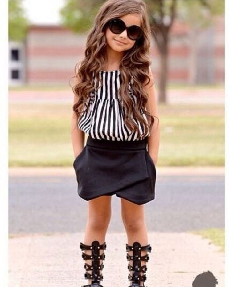 2015 New Summer wear Girls Casual TOPS + Short Clothing Set Suit Girls Clothe Fashion wear(China (Mainland))