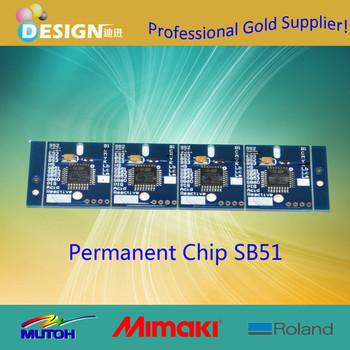 Quality garantee spare parts sb51 permanent chip for mimaki