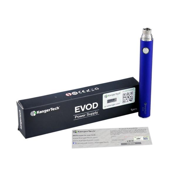 ถูก เดิมKanger Evodแบบชาร์จไฟได้1100มิลลิแอมป์ชั่วโมงแบตเตอรี่บุหรี่อิเล็กทรอนิกส์3.7โวลต์แรงดันไฟฟ้า510กระทู้
