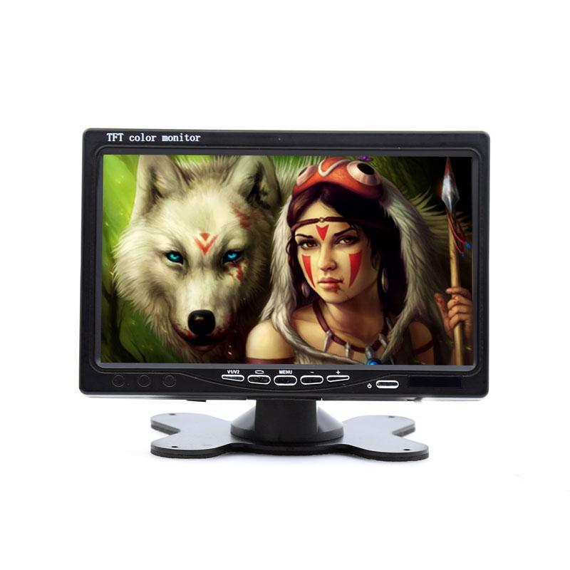 7 inch HDMI, VGA digital Tft LCD car monitor 1024*600 resolution with 2way RCA video input V1 V2, ideal for DVD, VCR display(China (Mainland))