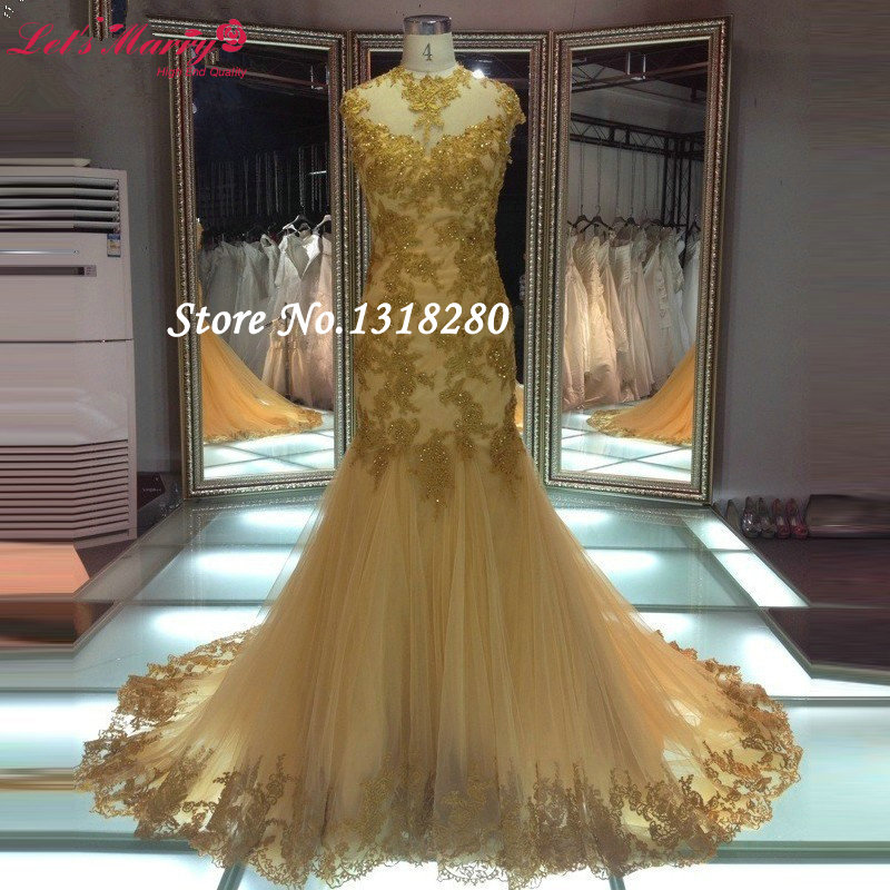 elegant hot sale african gold lace cap sleeve mermaid