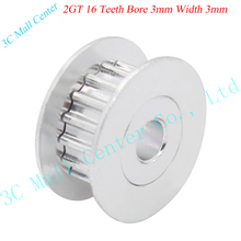 10pcs 3D printer parts 2GT16 tooth bore 3mm synchronous wheel pulley Bearings H type passive idler