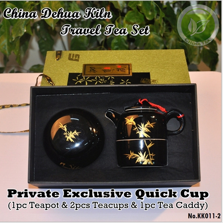 China Dehua Kiln Top Grade Porcelain Travel Tea Pot Set Gaiwan Kung Fu Quick Cup Sets
