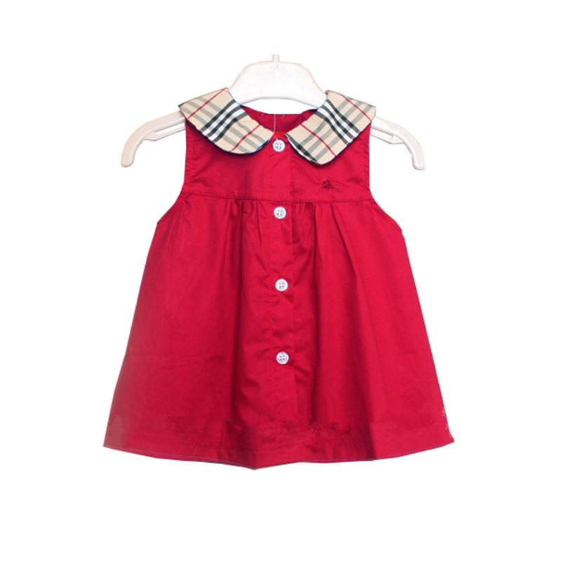 2016 cute sleeveless plaid baby girl dress one year old ...