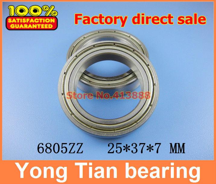 10pcs free shipping thin wall deep groove ball bearing 6805ZZ 25*37*7 mm(China (Mainland))