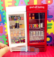 1:12 Cute MINI Dollhouse Miniature home Decoration Food Drink Refrigerator(China (Mainland))
