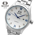 Original authentic fashion business casual men s watch quartz watch waterproof high grade hot strip white