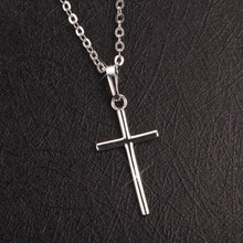 Cross Necklace Women Men Jewelry Wholesale Trendy 2 Colors 925 Sterling Silver 18K Real Gold Plated