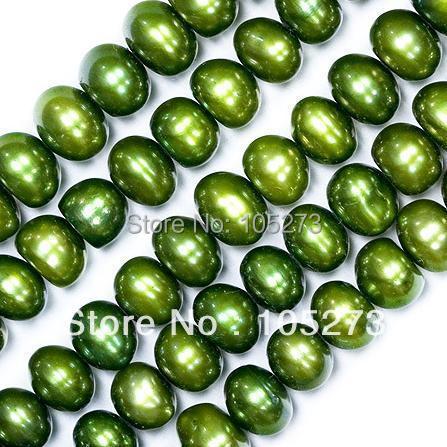 Здесь можно купить  Wholesale Pearl Jewelry 5-6MM Lustrous Green Potato Shaper Natural Freshwater Pearl Beads 15