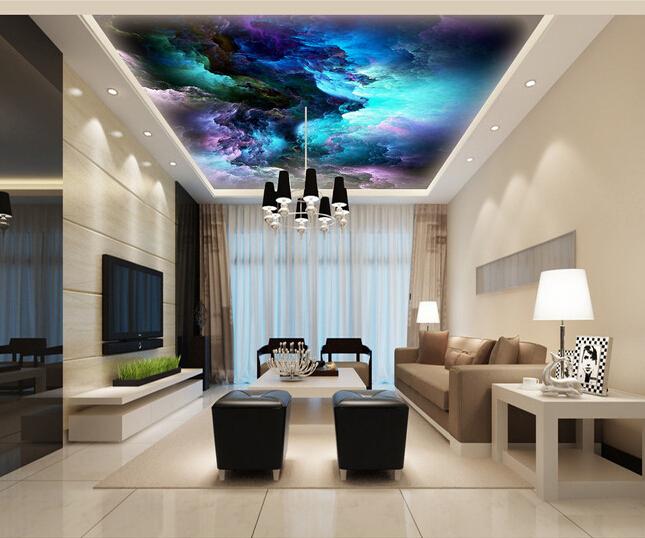 Custom Wallpaper 3D Fantasy Cloud Mural For The Living