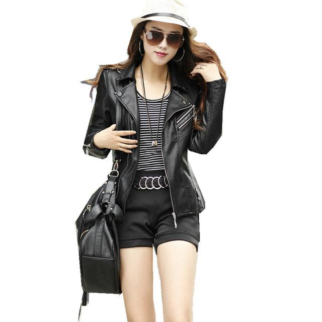 Большой размер 5XL черная кожаная куртка карман на молнии полный рукавом искусственная ...