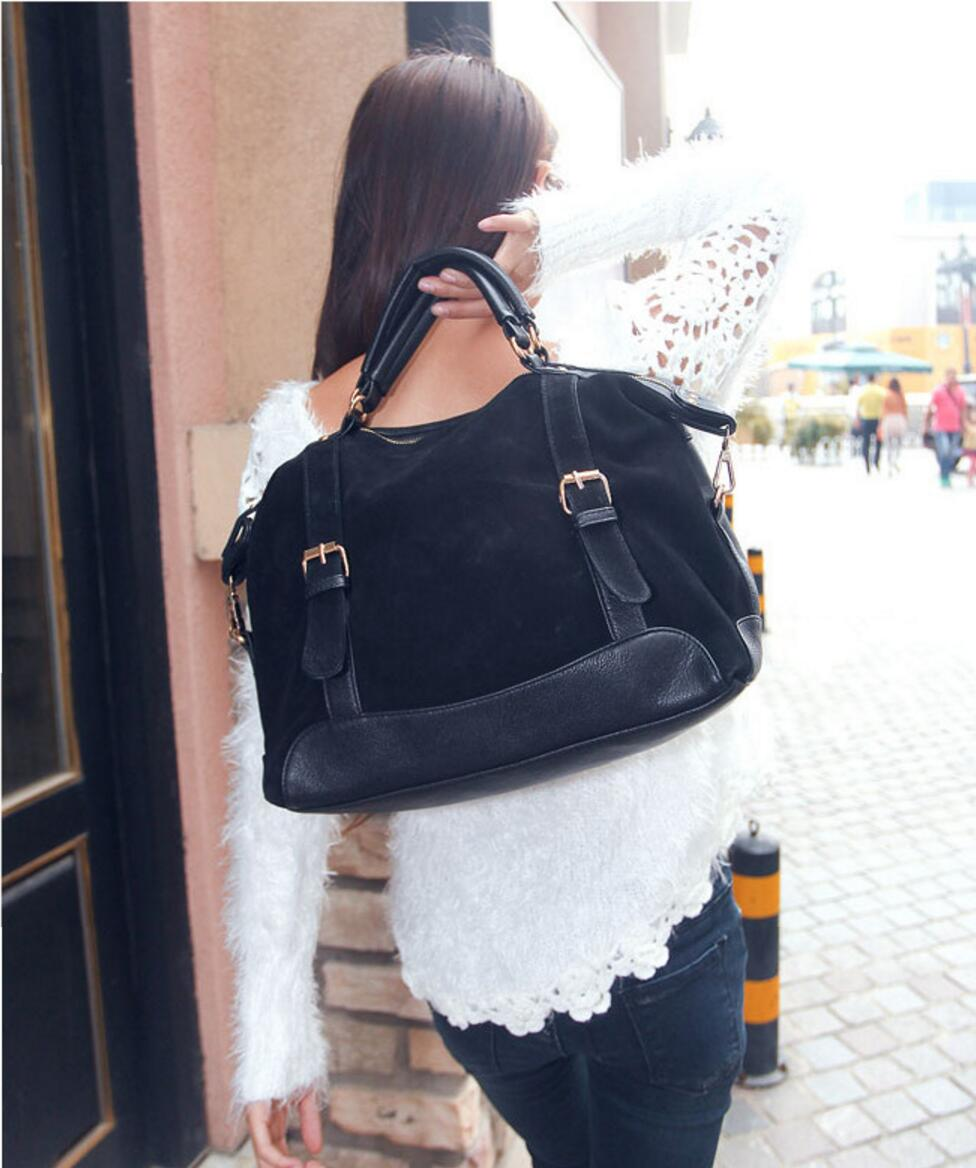 HSGEE Vintage Women Bag Lady's Matte Handbag Women Shoulder Bag Nubuck Leather Messenger Bags Bolsa Feminina Totes HQB1369(China (Mainland))