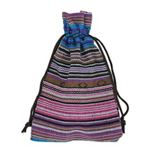 2016 New 10Pcs 10x14cm Blue Stripes Tribal Tribe Drawstring Jewelry Gift Bags Pouches High Quality Cotton Chinese Style(China (Mainland))