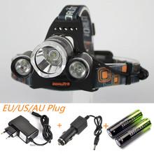 6000lm cree xml t6+2r5 led-scheinwerfer scheinwerfer stirnlampe licht 4- Modus fackel +2x18650 battery+eu/us kfz-ladegerät für fischerei lichter(China (Mainland))