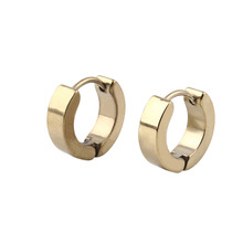 Fashion 1 Pair Punk Unique Cool Men's Stainless Steel Hoop Piercing Ear Earring Studs new sale(China (Mainland))