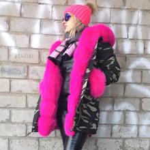 2016 Brand Women Winter Jacket Coat Thick Warm Fur liner women parkas big natural real Fox Fur Collar hooded and fox fur sleeves(China (Mainland))