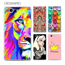 Buy CROWNPRO FOR Sony Xperia Z3 Compact Case Cover Z3 Mini D5803 D5833 M55W Painting Phone Back Protector FOR Sony Z3 Compact Case for $1.20 in AliExpress store