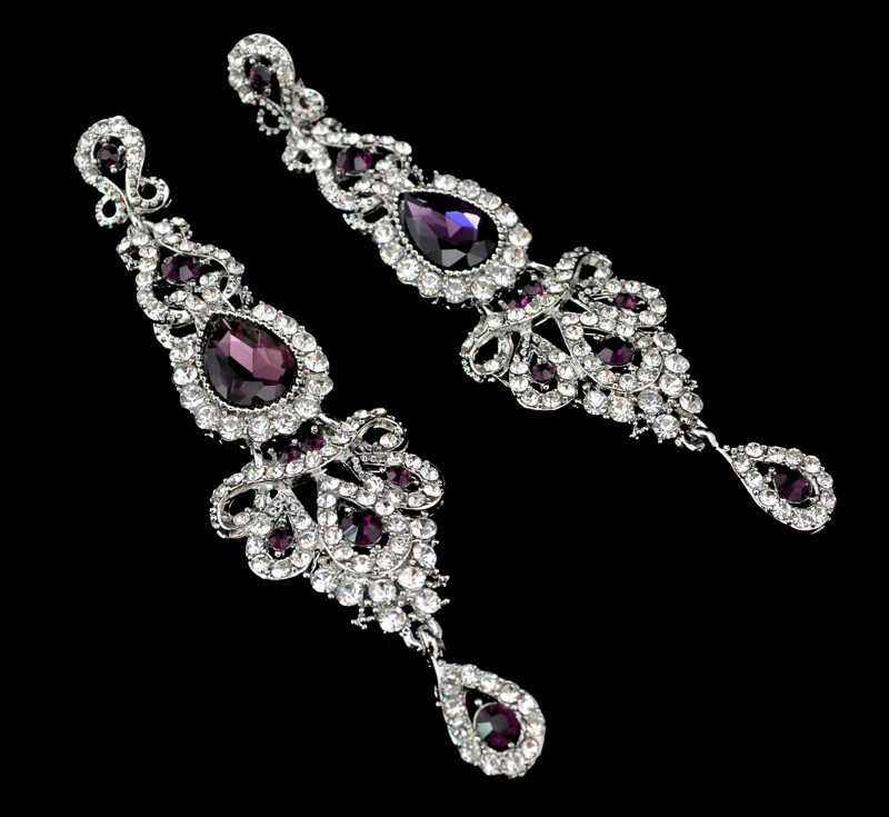 2016 New Brand Silver Plated Earrings Bridal Long Drop Pendant Women - Fascinating Jewelry store