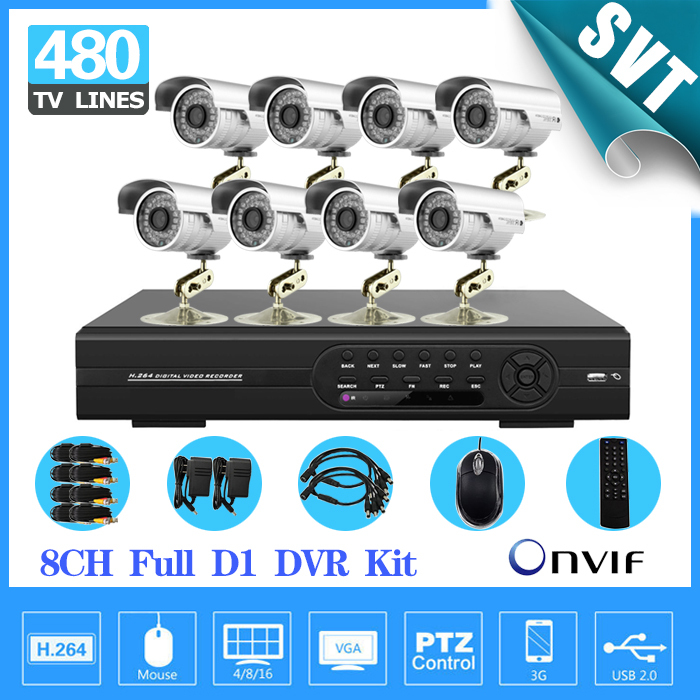 8ch CCTV video surveillance system d1 dvr recorder 1/3 Sony Outdoor waterproof Camera kit for home security,HDMI 1080P SK-118(China (Mainland))