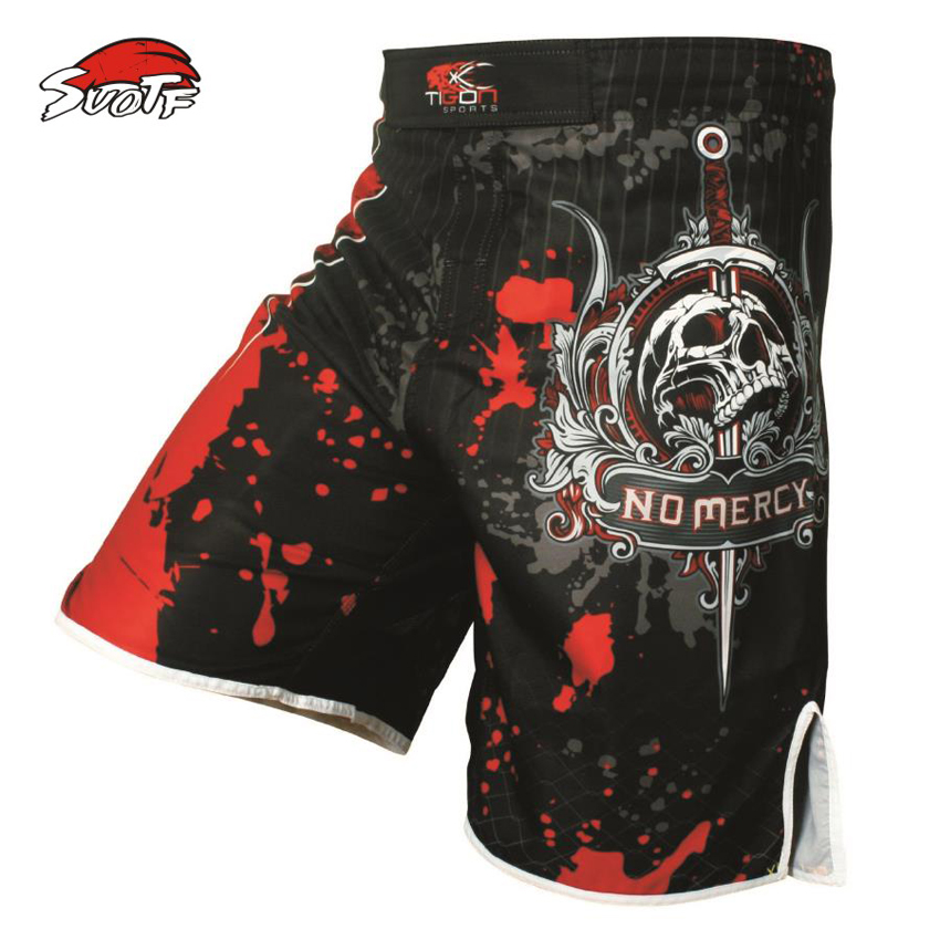 SUOTF Pro MMA Fight MMA short shorts Muay Thai kick boxing gel cage pants pants Sanda boxing sport pants M-XXXL(China (Mainland))