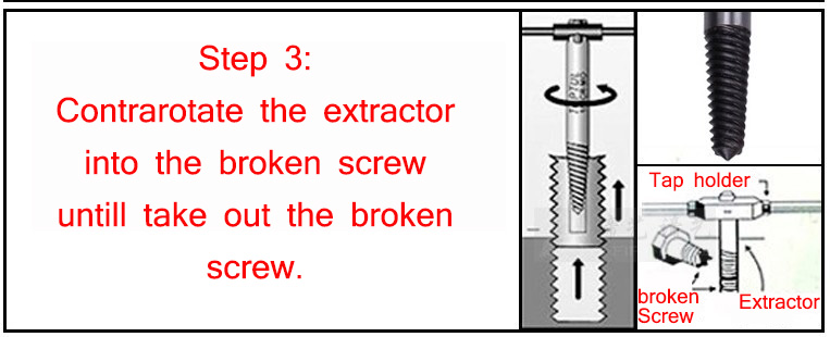 FINGLEE 5-6 PCS Screw Extractor Drill Bits Guide Set Broken Damaged Bolt Remover Double Ended Damaged Screw Extractor
