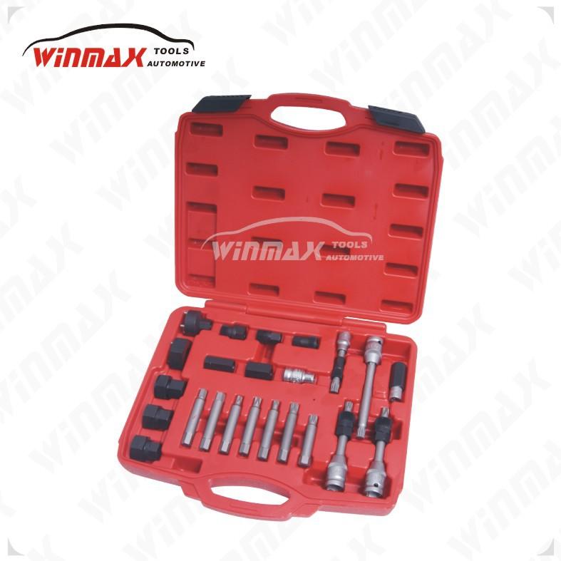 Фотография WINMAX 24 PCS ALTERNATOR PULLEY REPAIR TOOL KIT AUTOMOTIVE TOOLS WT05010