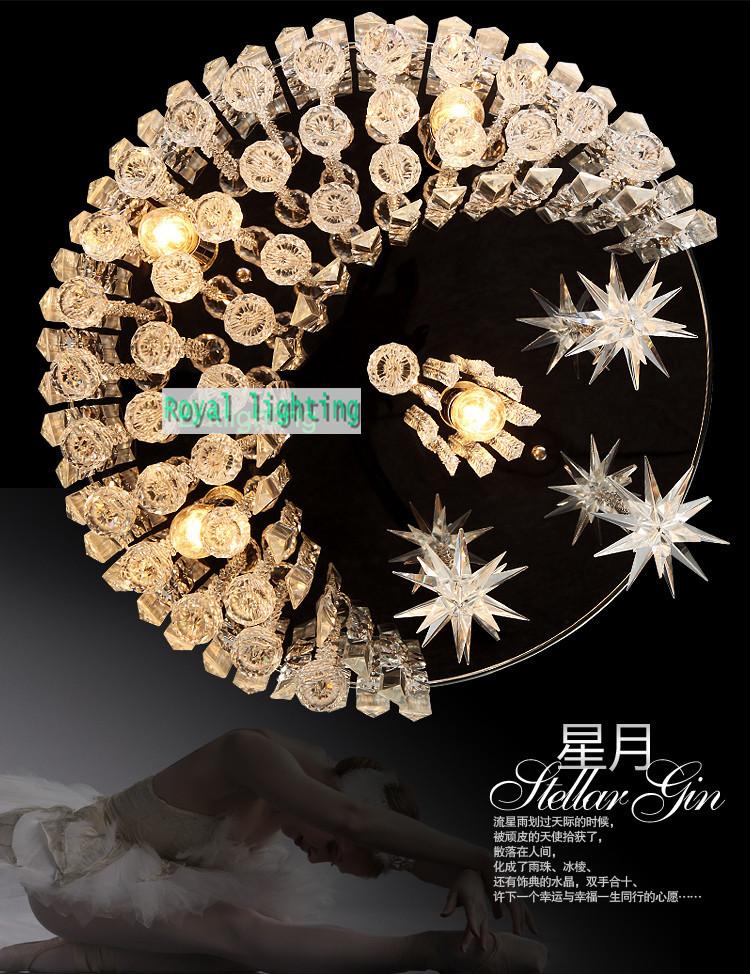 Trendy Star &amp; Moon crystal ceiling lamp roman bedroom crystal lighting modern wedding ceiling light dining room hanging light <br><br>Aliexpress