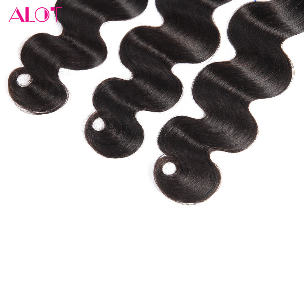 ALOT Hair Brazilian Virgin Hair Body Wave Hair Extension 12-28 Inch 1PC/Lot 100% Human Hair Bundles Natural Color Hair Weaves