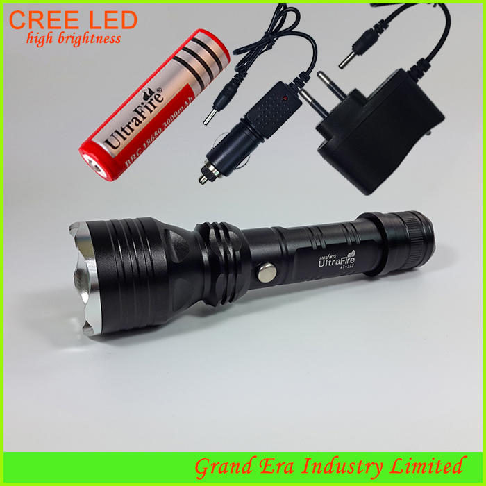 rechargeable cree q5 police flashlight 5w led torch hand. Black Bedroom Furniture Sets. Home Design Ideas