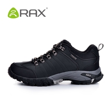 RAX authentic new winter hiking shoes men slip outdoor Climbing Shoes leather wear and shock absorption men shoes B940(China (Mainland))