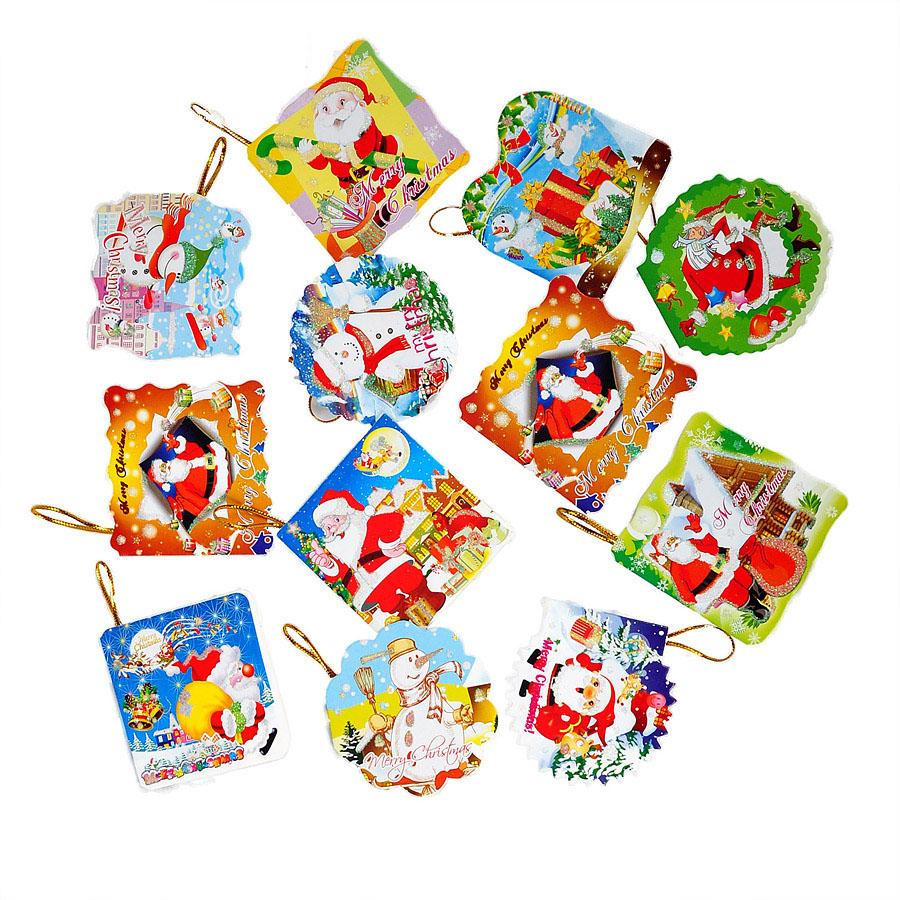 5-11cm exquisite little greeting cards Christmas wish style random christmas decoration natal navidad craft supplies(China (Mainland))