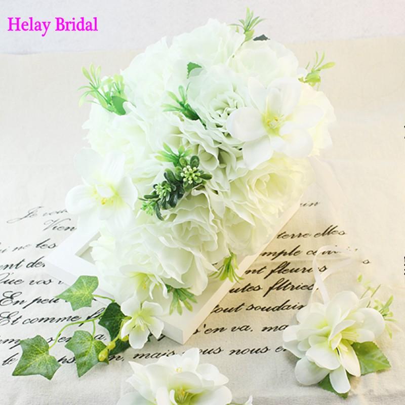 Wedding Bouquet White ramo de novia 2015 Artificial Flower Bride Teardrop Cascade Waterfall Bouquet ramos de novia envio gratis(China (Mainland))