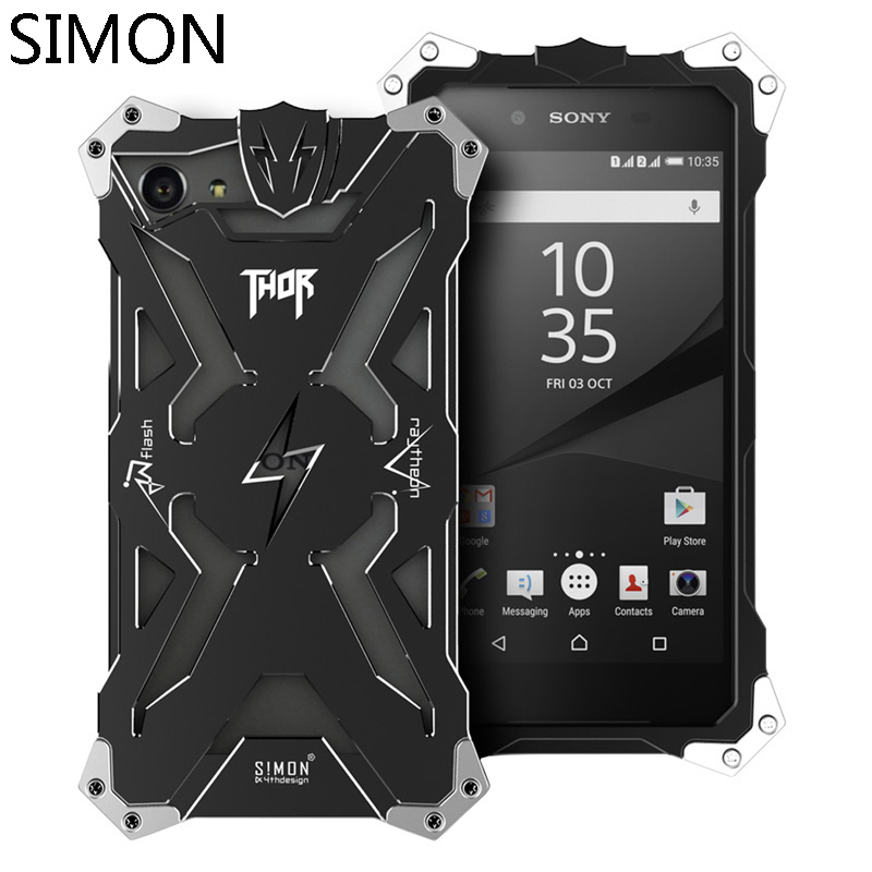 For <font><b>SONY</b></font> <font><b>Xperia</b></font> Z1 Z2 Z3 Z4 <font><b>Z5</b></font> <font><b>Premium</b></font> <font><b>Z5</b></font> Compact Mini Metal Body Phone Shell <font><b>Case</b></font> <font><b>SIMON</b></font> <font><b>THOR</b></font> Aviation Aluminum Cover <font><b>Cases</b></font>