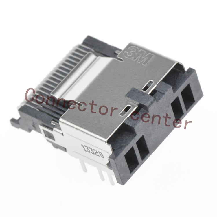 Mini Multi-Lane Connector For 3M 36Pin Surface Mount Right Angle Original 8AB36-2220-LJ-PR MiniSAS Connector<br><br>Aliexpress