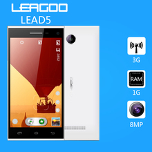 In Stock Original Leagoo Lead 5 Lead5 5 inch IPS 854×480 MTK6582 Quad Core Android 4.4 3G Mobile Cell Phone 1GB RAM 8GB ROM 8MP