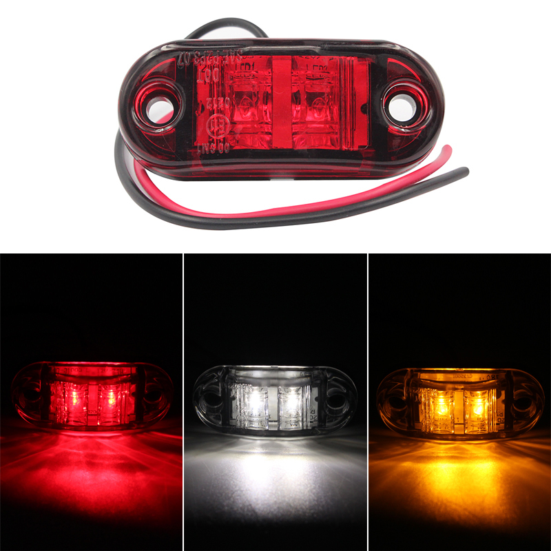 2 PCS LED Auto Car Lights Red Amber White Piranha ABS Side Turn Signals Replacement Parts