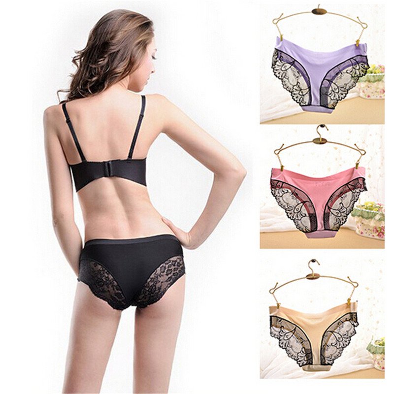 LY710 2016 New Arrival Plus Size Underwear Women Sexy Lace Panties Victoria font b Lingerie b
