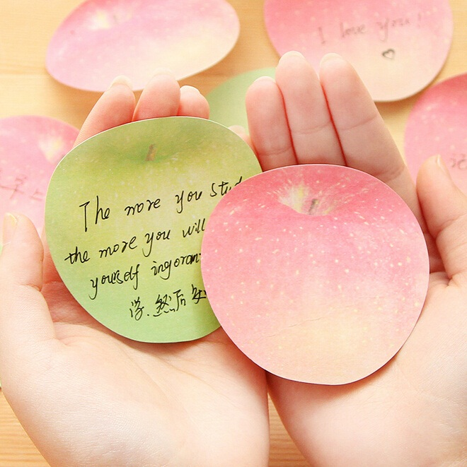 New Fashion Cute Apple design Notepad/Sticky note/Note pads Memo/Writing scratch pad / school and office supplier(China (Mainland))