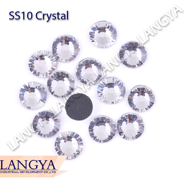 Bulk Packing 500gross Shiny Heat Transfer Best Quality Bright SS10 Crystal Hotfix Rhinestones(Hong Kong)