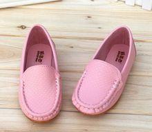 12 צבעים כל גדלים 21-36 ילדי נעלי עור מפוצל מזדמן סגנונות בני בנות נעלי נוחות רכה להחליק על ילדים נעלי(China)