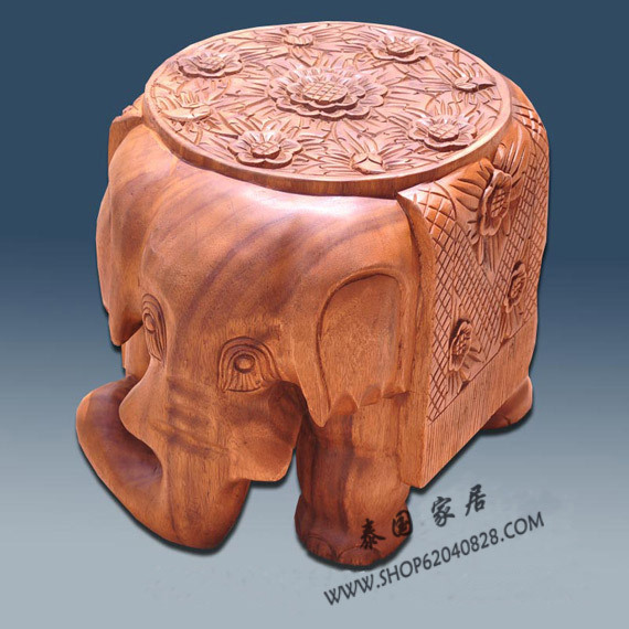 Thailand, Southeast Asia, home accessories crafts ornaments elephant carved wood coffee table as stool color(China (Mainland))