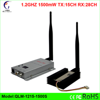 1.2GHz 15 channels 1500mW FPV long range analog wireless video audio transmitter and receiver DHL Free
