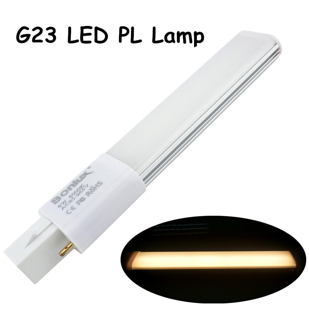 6W G23 LED PL Bulb Lamp 2-Pin Base LED Horizontal Plug Down Light 13W G23 Base CFL PL Compact Fluorescent Replacement Lamp(China (Mainland))