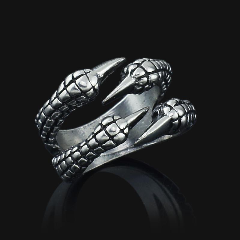 Unisex Women's Men's Eagle Claw Gothic Titanium Stainless Steel Gothic Punk Biker Ring J027 Size 8-11(China (Mainland))