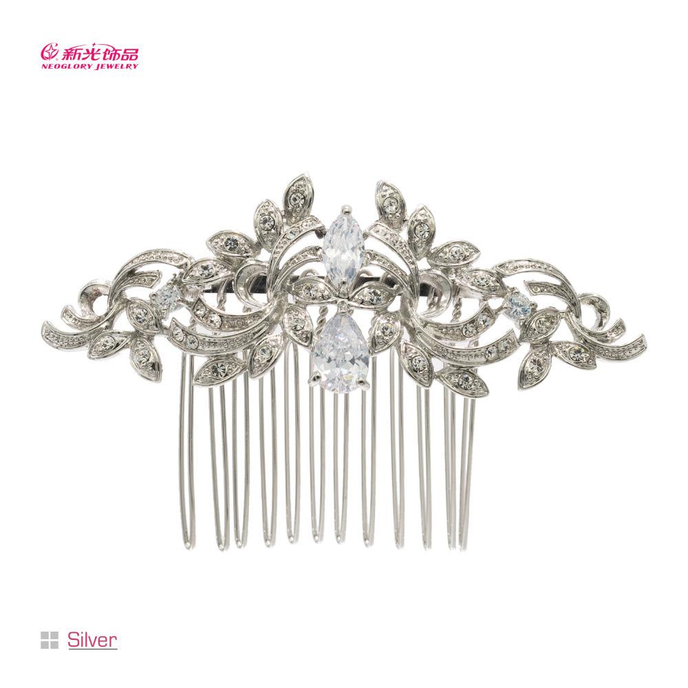 Vintage Hairpins Rhinestone Zircon Flower Hair Comb for Women Party Wedding Bridal Hair Accessories New 2015