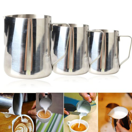 Thick Stainless Steel Espresso Coffee Milk cup mugs caneca thermo Frothing Pitcher Steaming Frothing Pitcher(China (Mainland))